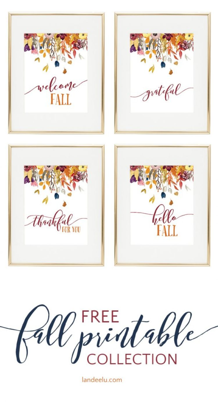 Gorgeous printable fall decor! Download, print and pop into a frame for easy fall decorating