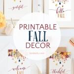 Beautiful printable fall decor collection! Four different images to choose from! #fallprintable #falldecor #diyfalldecor #falldesign