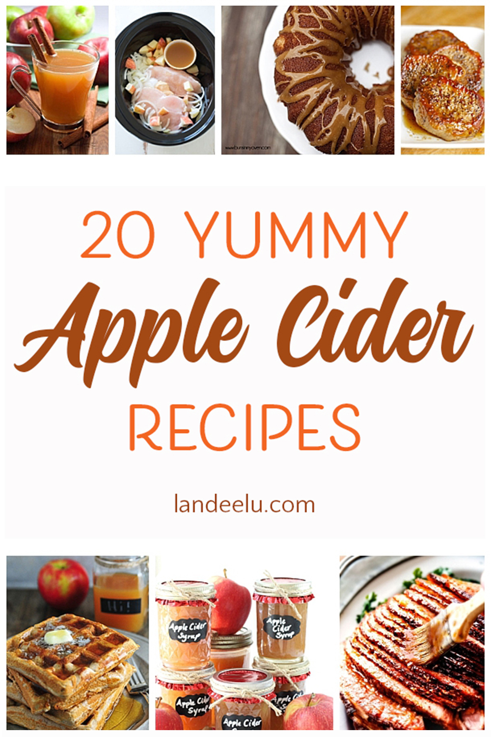 Apple cider flavored recipes to ring in the fall weather! #applecider #ciderrecipes #appleciderrecipes #fallrecipes #fall
