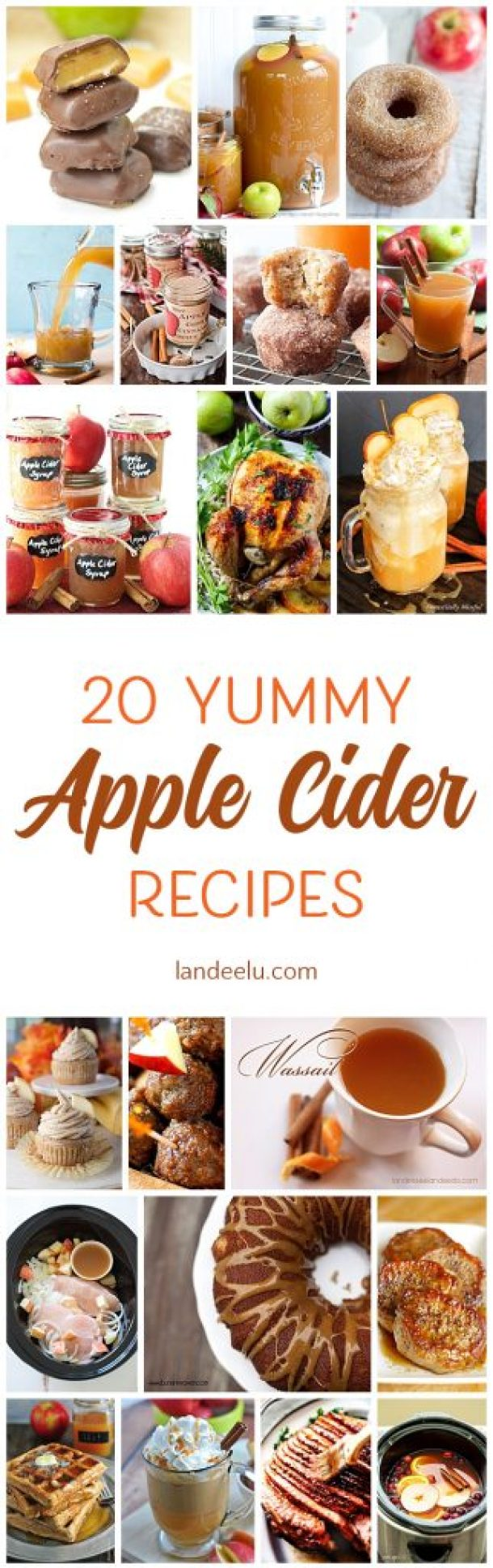 Apple cider flavored recipes to ring in the fall weather!