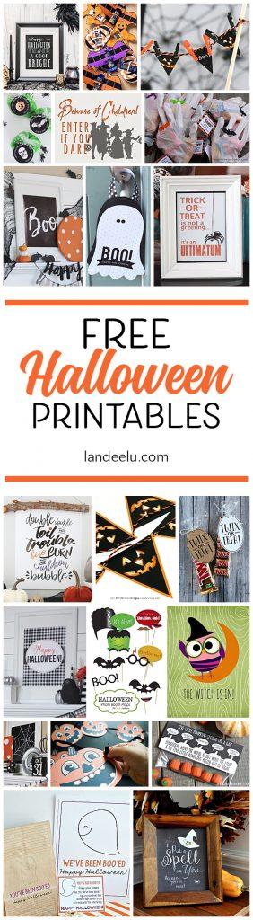Darling free Halloween printables to make your Halloween decor spooktacular!