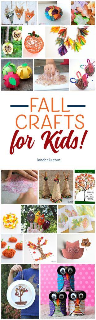 Fun Fall Crafts For Kids Landeelu