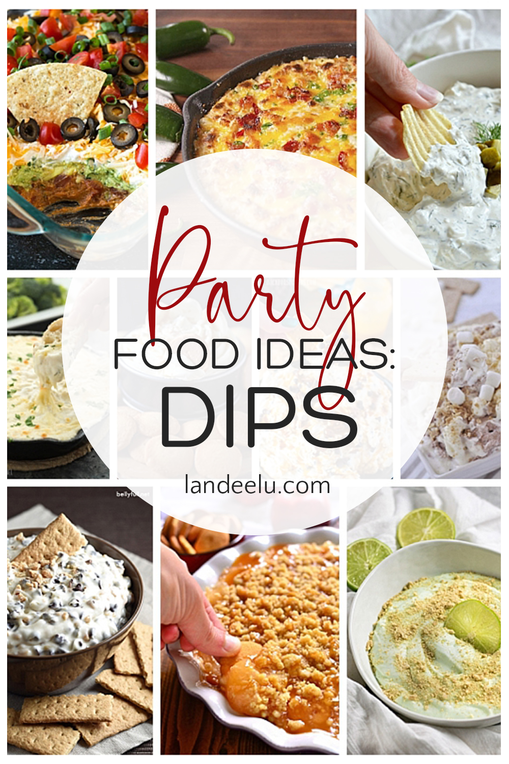 These dip recipes look amazing! Fantastic party food ideas! #partyfood #partyfoodrecipes #dips #diprecipes