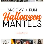 Love these Halloween decoration ideas for mantels! I can't wait to do some of these!