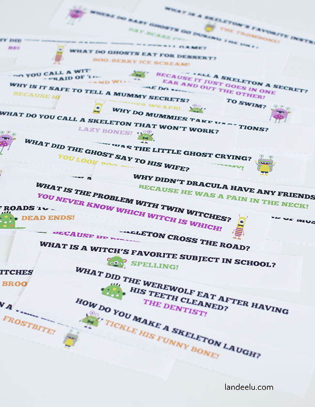 photograph relating to Printable Jokes for Kids named Totally free Printable Halloween Jokes for Youngsters -