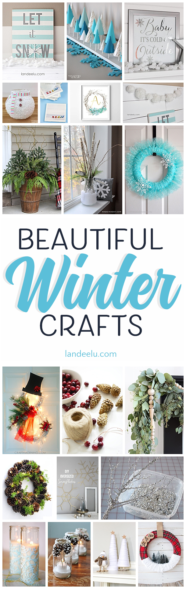 I love these winter crafts... such pretty wintery colors and ideas!