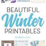 Huge collection of beautiful winter theme printables to easily download and print for your home! #winterdecor #winterprintables #printables #winter