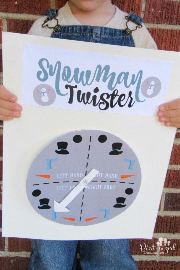 Snowman Twister Printable Game Set | Pint Sized Treasures