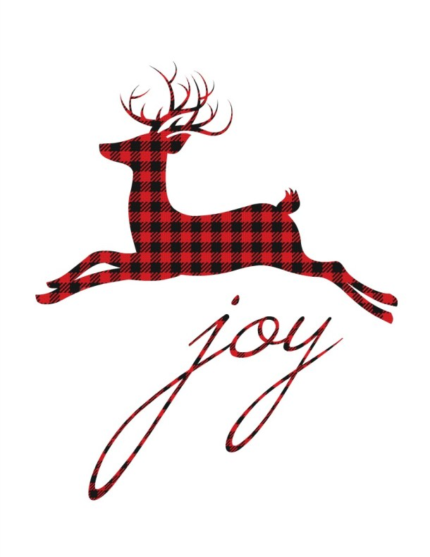 12 Plaid & Buffalo Check Free Christmas Printables | The Happy Housie