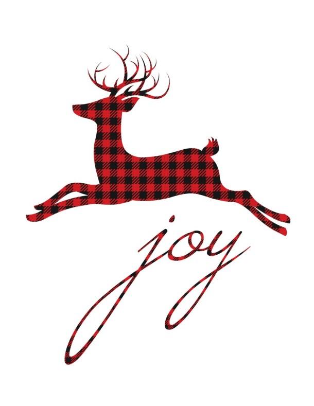 12 Plaid & Buffalo Check Free Christmas Printables | The Happy Housie