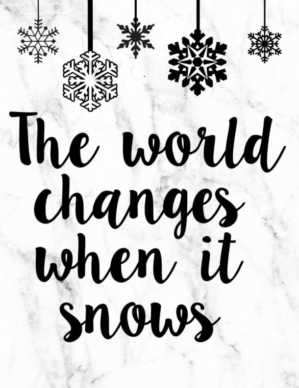 Gilmore Girls Quote Free Printable | Winter and Christmas Printable | Pretty as a Peach Blog