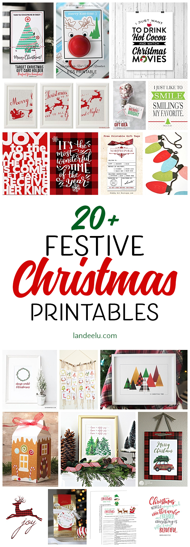 Make the holidays easier on yourself and download some awesome free Christmas printables!