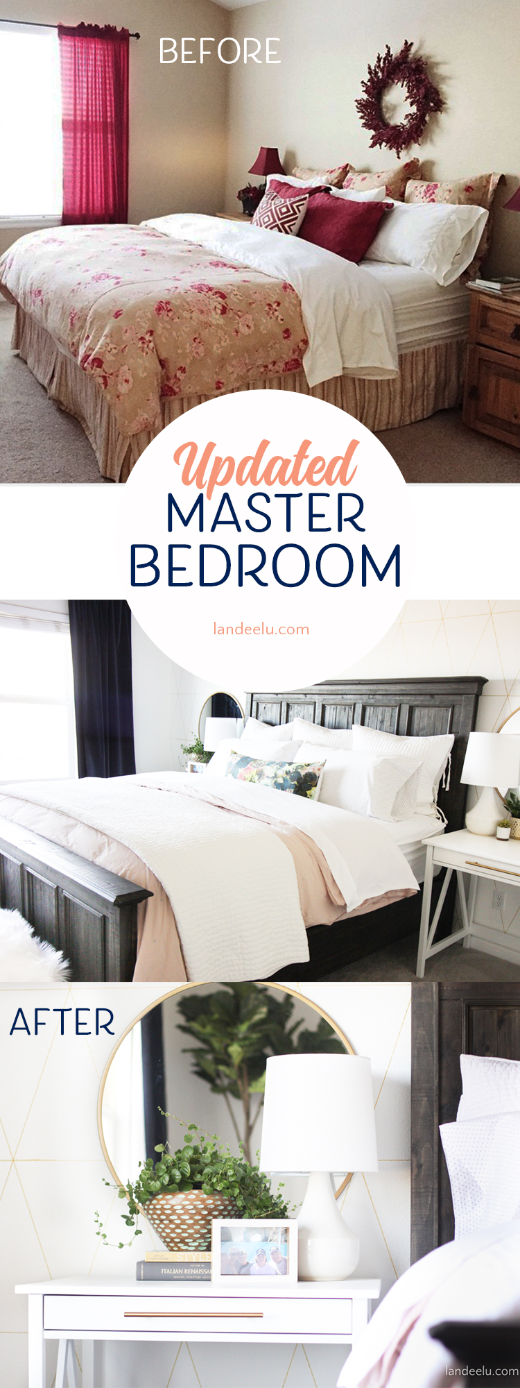 Love this transformation! Lots of awesome master bedroom ideas