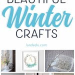 Love these winter crafts to add a touch of icy winter to my decor!