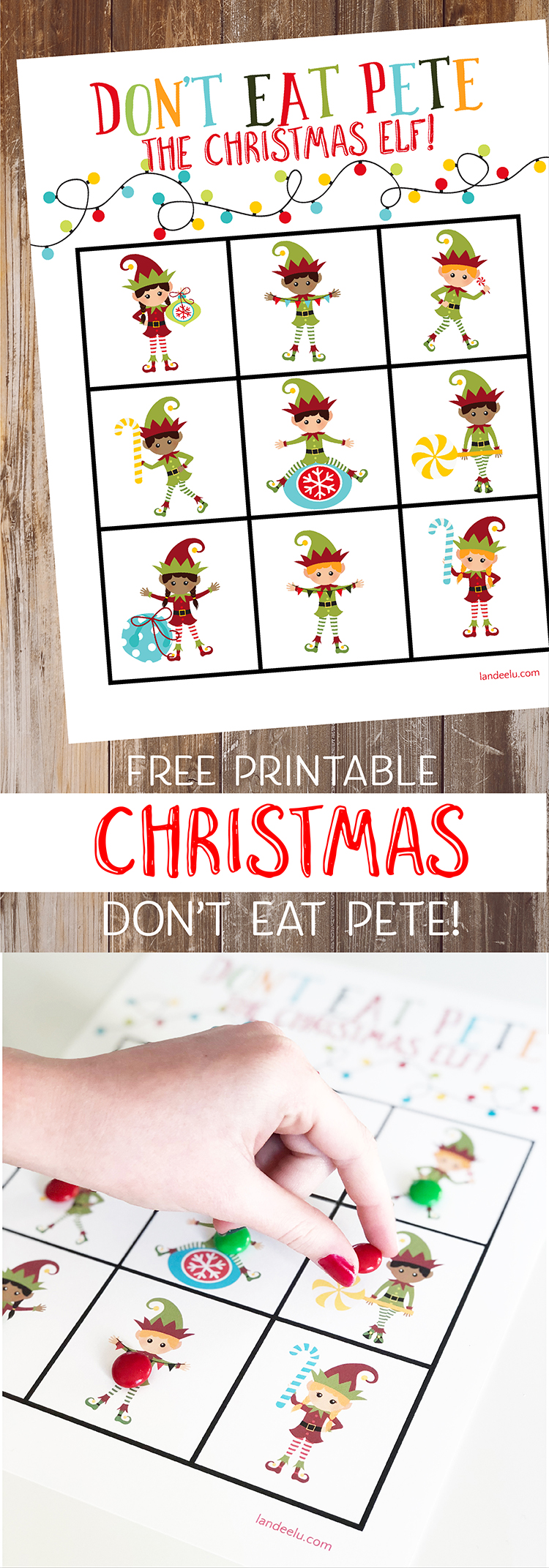 Add this Christmas version of Don't Eat Pete to your collection of fun family Christmas games! The kids will LOVE it!