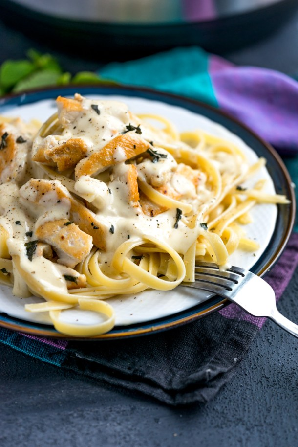 Instant Pot Chicken Fettuccini Alfredo | Heather Likes Food
