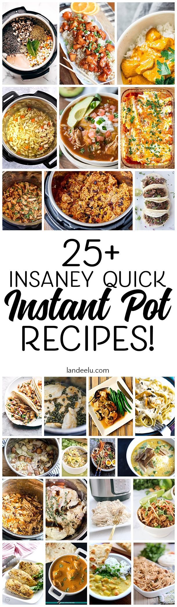 Over 25 awesome and quick instant pot recipes you'll want to try!