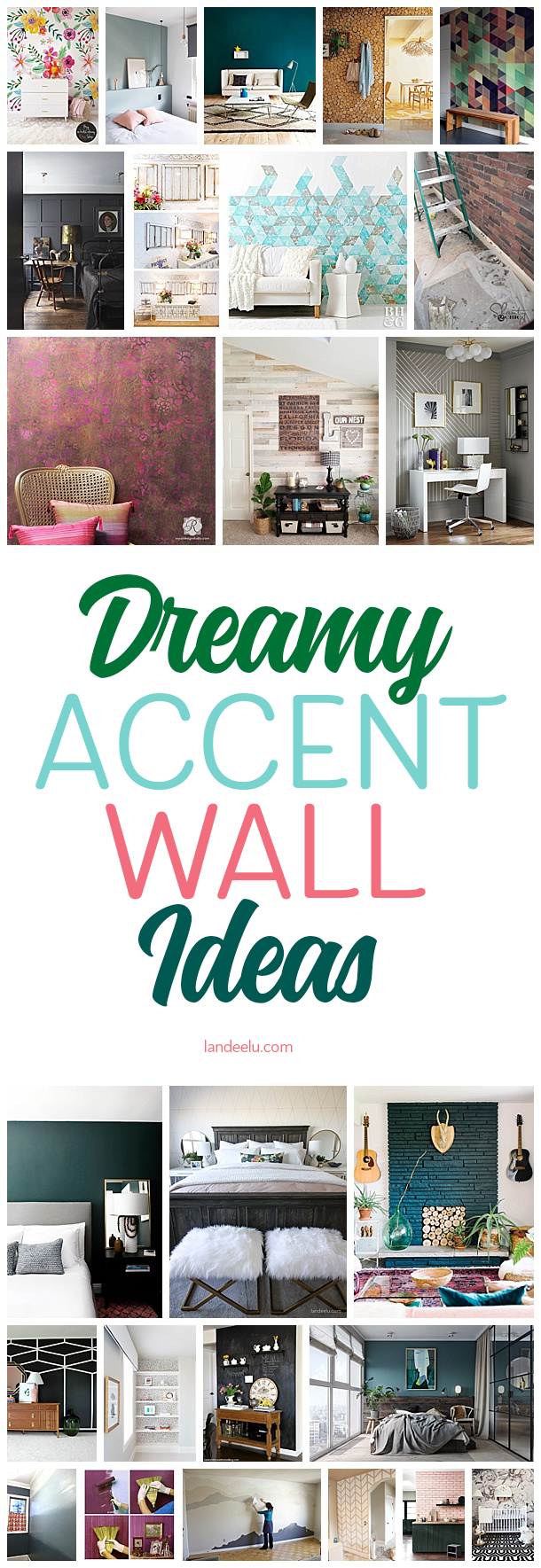 These accent wall ideas are amazing! I've been looking for ideas to do in our master bedroom.