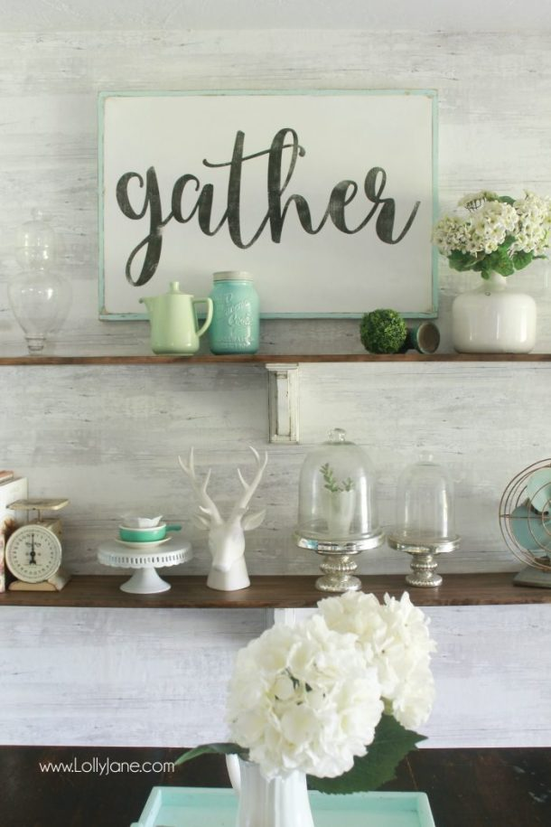 DIY Farmhouse Shelves | Lolly Jane