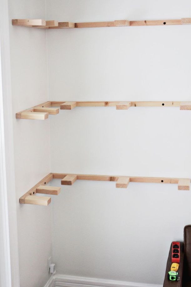DIY Floating Corner Shelves | A Beautiful Mess