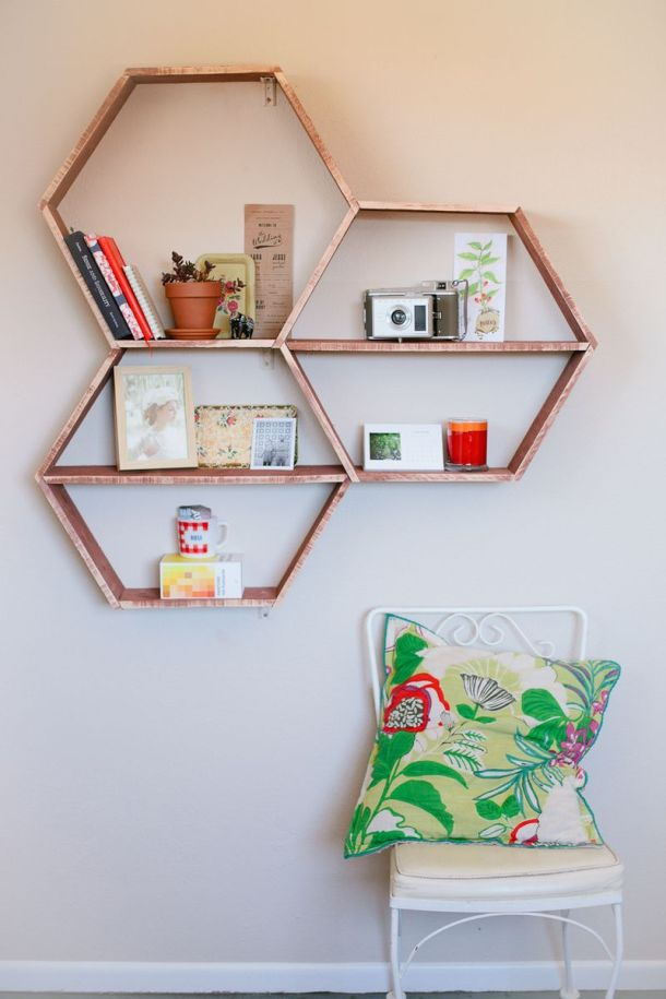DIY Honeycomb Shelves | A Beautiful Mess