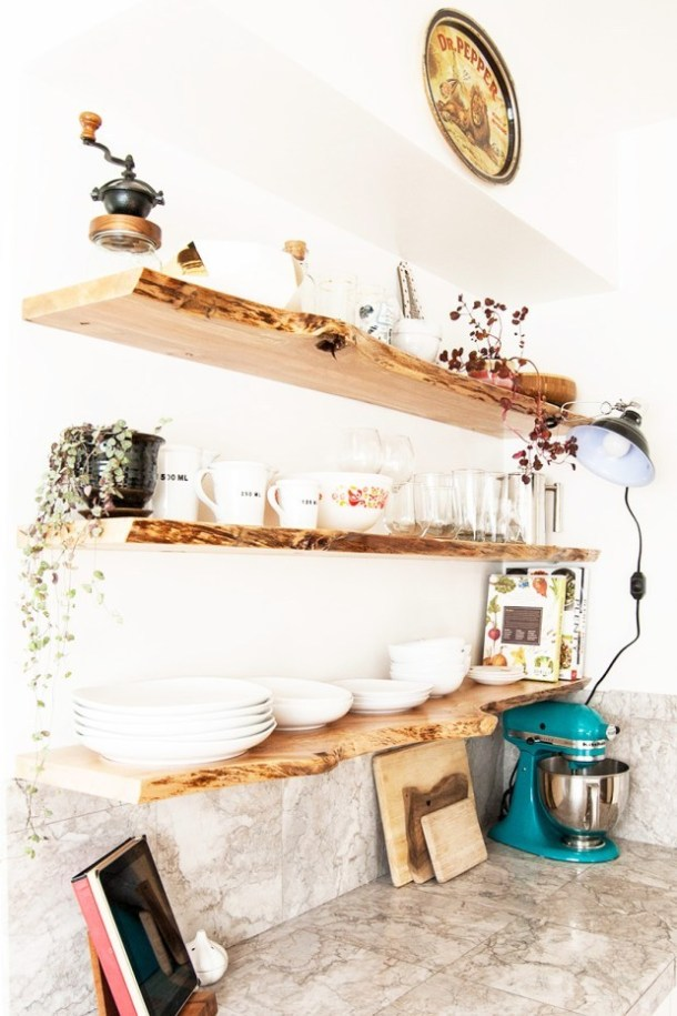 DIY Raw Natural Edge Floating Shelves | DIY in PIX