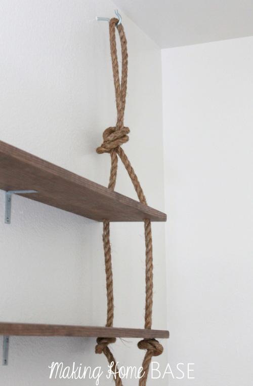 DIY Wall Hanging Shelves | Making Home Base