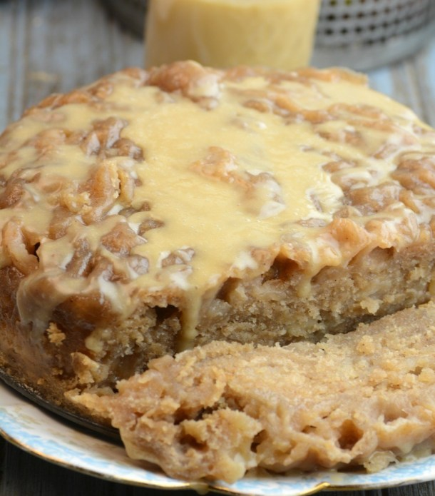Instant Pot Apple Bread with Salted Caramel Icing | Adventures of a Nurse