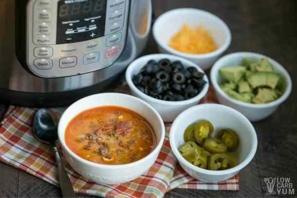 Instant Pot Low Carb Taco Soup | Low Carb Yum