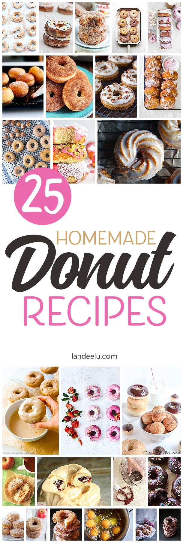 25 Delicious Homemade Donuts Recipes that you can make in your own kitchen! #donuts #homemadedonuts #dessert #desserts #dessertrecipes #doughnuts