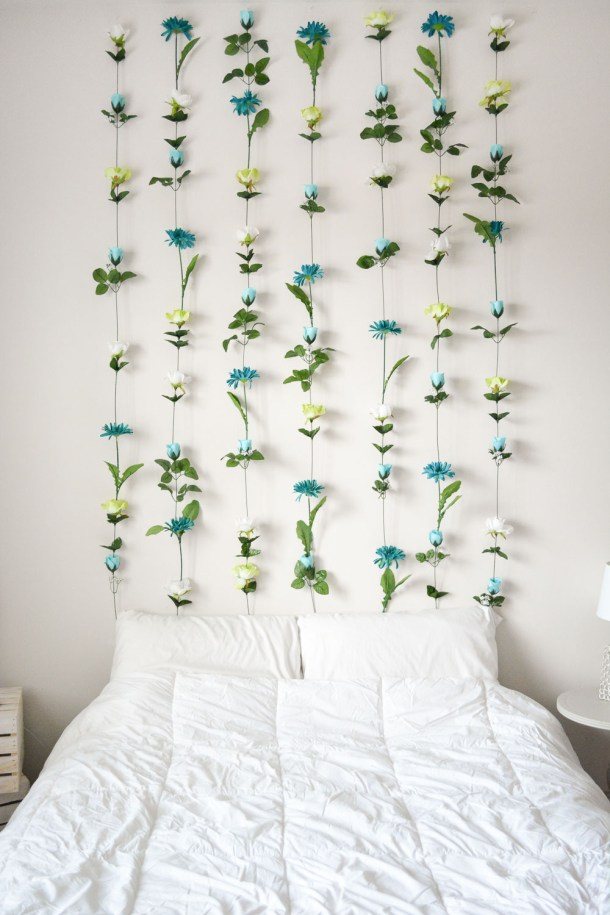 DIY Flower Wall Headboard | Sweet Teal