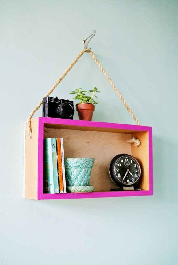 DIY Hanging Shelf | B+C