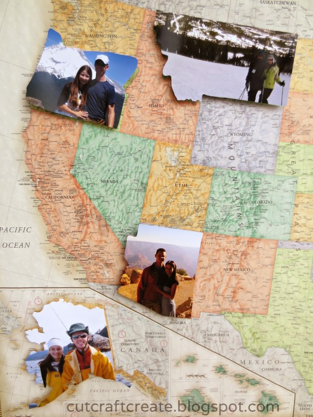 DIY Personal Photo Map | Cut Craft Create