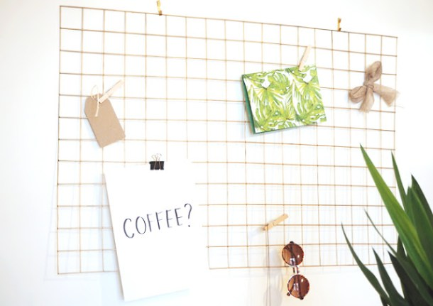 DIY Wire Memo Board | Made Up Style