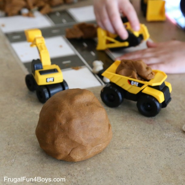 Dirt Play Dough | Frugal Fun 4 Boys