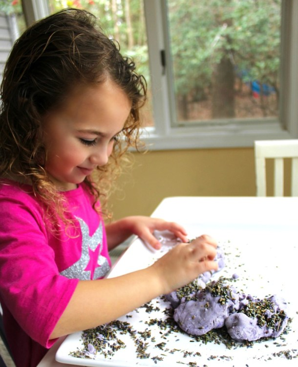 Natural Lavender Sensory Play Dough | Natural Beach Living