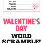 Fun Valentine's Day Activity: Valentine Word Scramble!