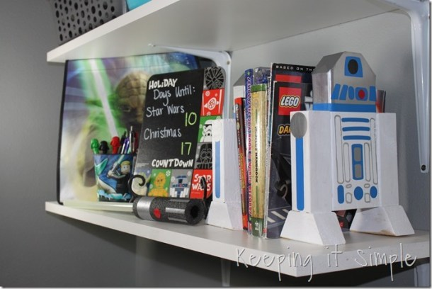 DIY 2x4 R2D2 Bookends | Keeping it Simple Crafts