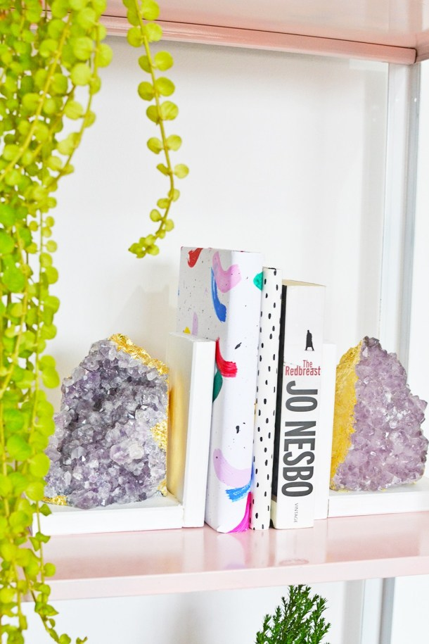 DIY Amethyst Bookends | Enthralling Gumption