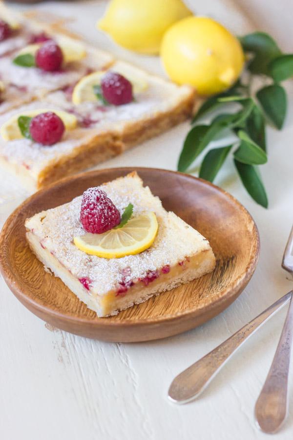 Raspberry Lemon Bars | Lovely Little Kitchen