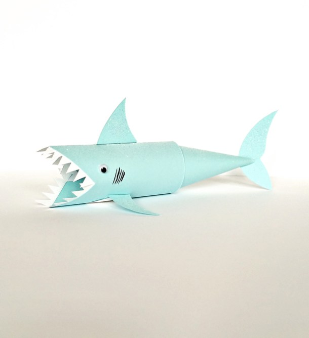 Shark Paper Tube Craft | Hello Wonderful