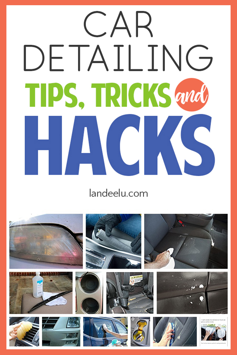 Love these awesome car detailing hacks, tips and tricks! A clean car is my love language! #cardetailing #cleaninghacks #cleaningtips #cleancar #cars