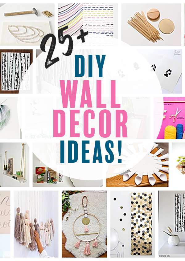 DIY Wall Decor is the way to go to customize your artwork and save a lot of money! I love these awesome DIY wall decor ideas! #diywalldecor #diyprojects #diyart #crafts