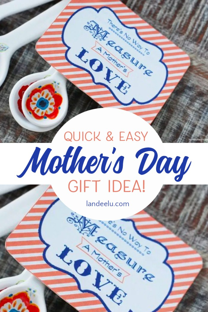 This is such an easy Mother's Day gift idea! And the tag would be darling attached to any kind of measuring spoons or measuring cups! LOVE! #mothersday #mothersdaygiftidea #easymothersdaygift #freeprintablegifttag