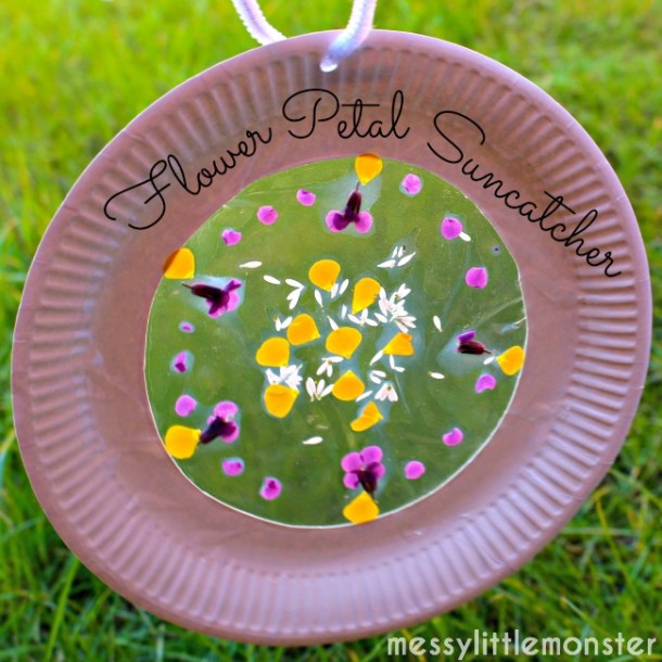 Flower Petal Sun Catcher | Messy Little Monster