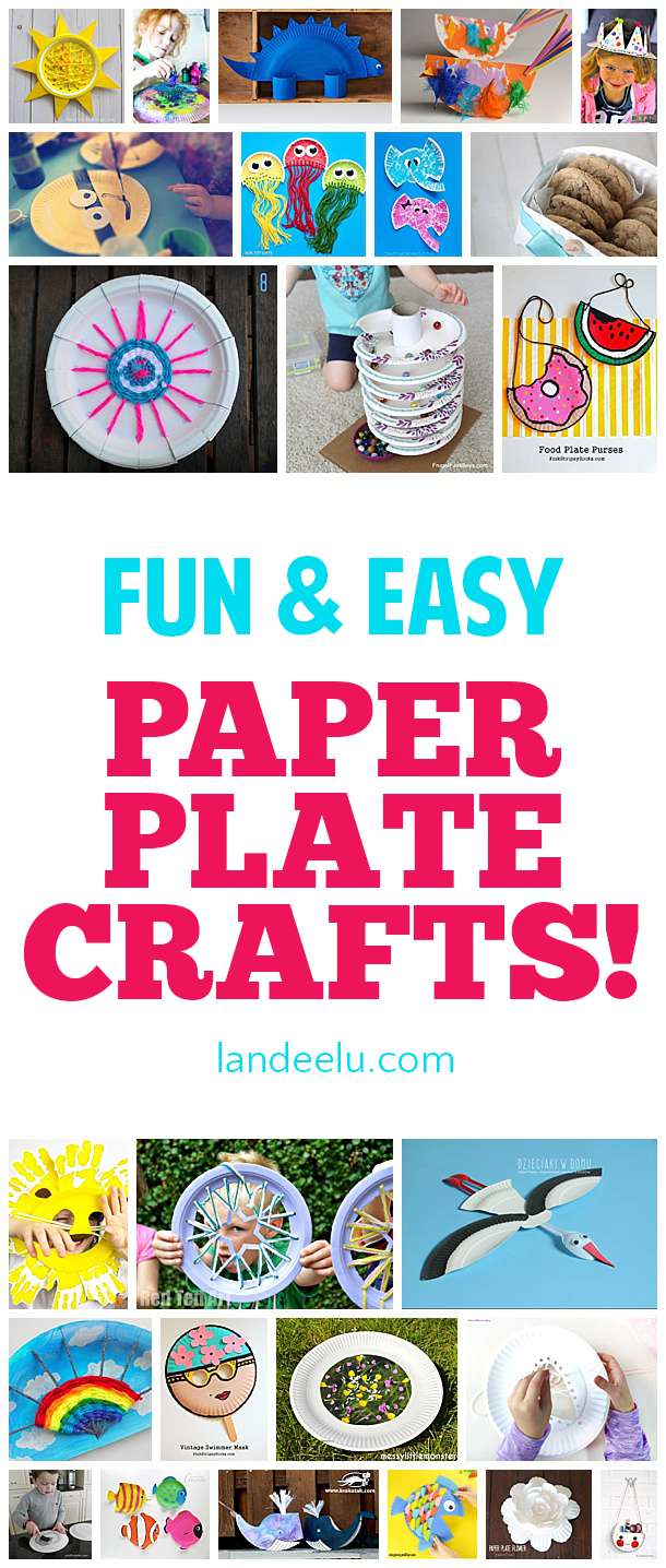 Adorable Easy Paper Plate Crafts Landeelu Com