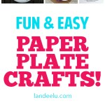 Look at these adorable paper plate crafts! So many fun and easy ideas! #kidcrafts #paperplatecrafts #craftsforkids #easycrafts