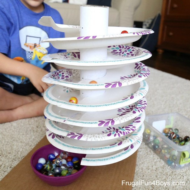 Paper Plate Marble Spiral | Frugal Fun for Boys and Girls