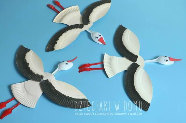 Paper Plate Storks | Dzieciaki W Domu