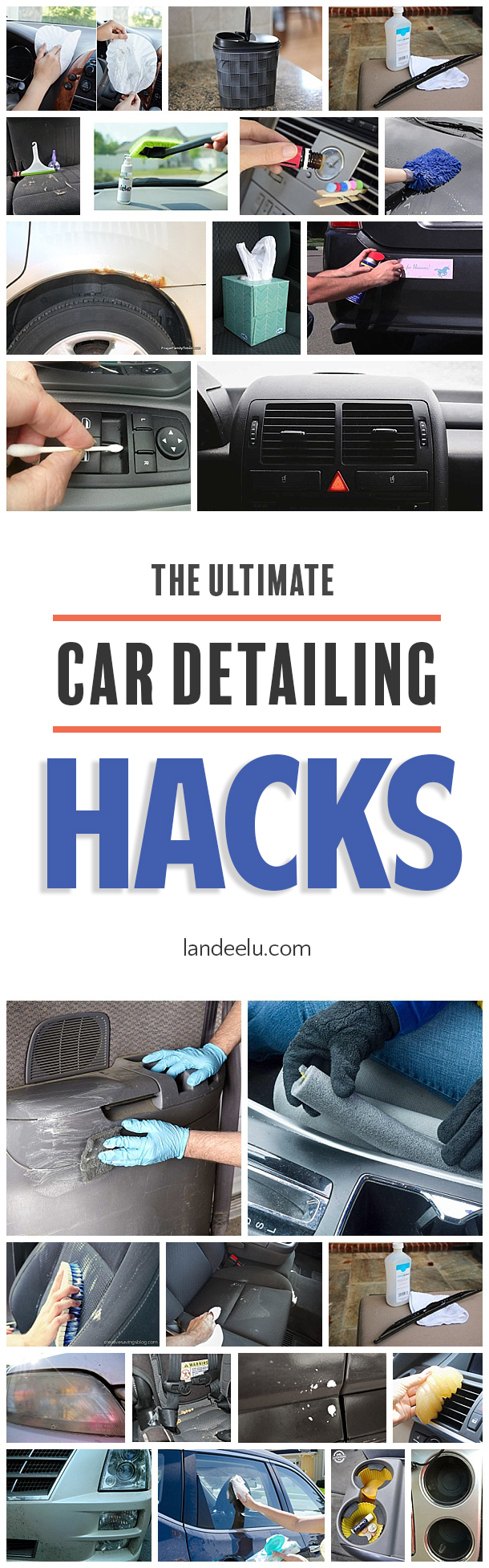 Love these awesome car detailing hacks, tips and tricks! A clean car is my love language! #cardetailing #cleaninghacks #cleaningtips